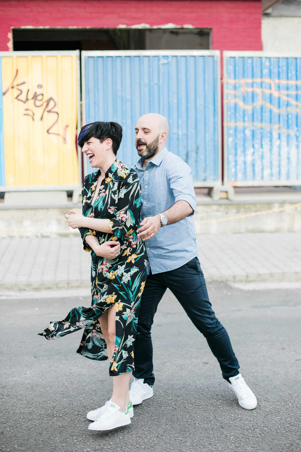 Colorful Pre-Wedding Downtown Athens by Fiorello Photography