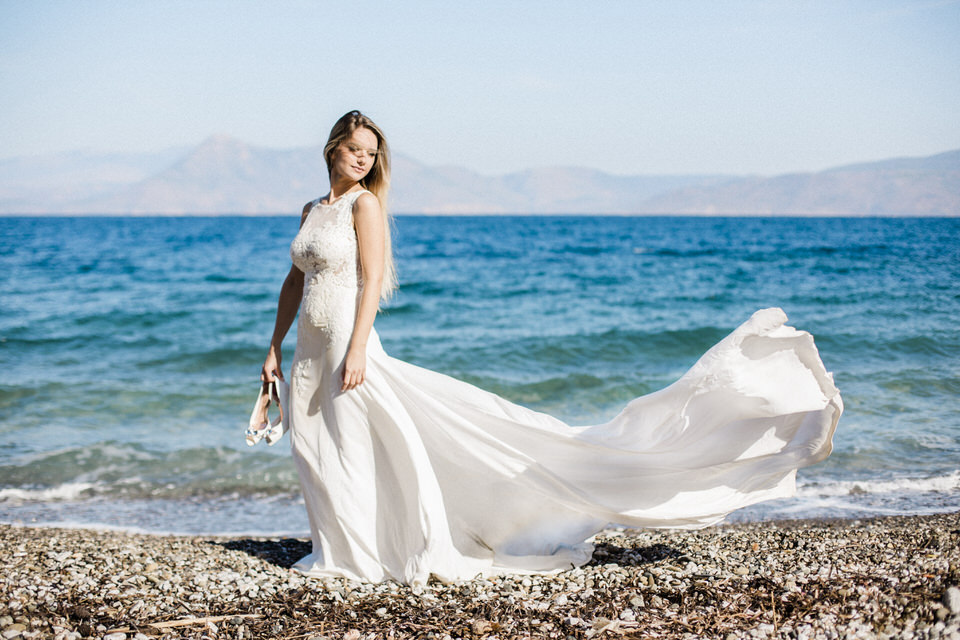 Day After Wedding Photo Shoot by the Sea by Fiorello Photography
