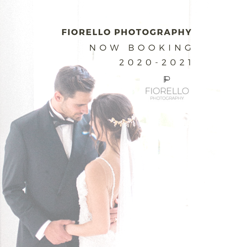 Fiorello Wedding Photography Now Booking for 2020-2021