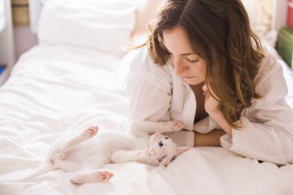 When a cat loves a lady, the story of an unusual boudoir